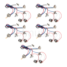 Electric Guitar Wiring Harness Kit 2V2T Pot Jack 3 Way Switch for Gibson Les Paul Lp Parts Set of 5