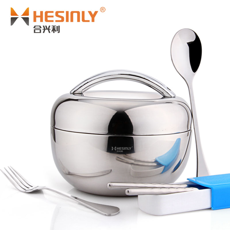 Apple Style Tainless Steel Thermal Lunch Box Adult 2 Layer Rice Bowl Child Double Layer Student Lunch Box<br>