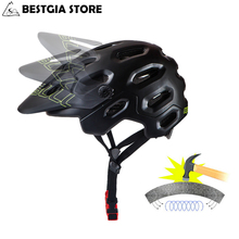 Cairbull New OFF-ROAD Cycling Helmet Casco Ciclismo PC+EPS Bicycle Bike Adjustable Visor Mountain Helmet Safety MTB Casque Vtt(China)