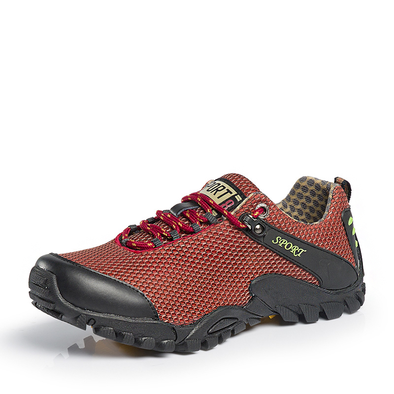 2017 Outdoor Shoes Men Brand Red Climbing Shoes Men Hiking Anti-Slippery Mens Mountain Boots Autumn Mens Hiking Boots Trekking<br><br>Aliexpress