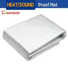 Cawanerl 100cm x100cm Aluminum Foil Car Engine Firewall Tailgate Sound Heat Insulation Deadener Material Mat Pad Deadening 1Pcs(China)