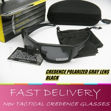 Tactical Credence Polarized sunglasses Black Frame Shooting Ballistic UV400 lens Impact Military goggles 100% UVA UVB with box
