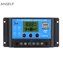 10A/20A/30A 12V/24V LCD Solar Charge Controller with Auto Regulator Timer for Solar Panel Battery Lamp LED Lighting(China)