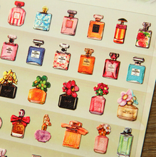 Funny diy stickers three-dimensional decoration stickers french perfume design free shipping