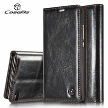 For Huawei P8 Lite Case Flip Wallet Leather Cover Luxury Full Phone Protective Black Brown Cases for Huawei P8 Lite Coque