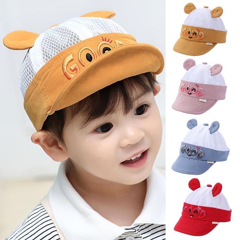 3 Pieces Tooddler Cotton Sun Visor Caps Children Adjustable Sports Sun Hats for Kids