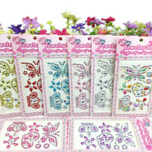 17*8.5cm /Sheet Acrylic Cartoon Motif Rhinestones Sticker DIY Craft Phone Car Nails Sticker Paste Decoration Accessories