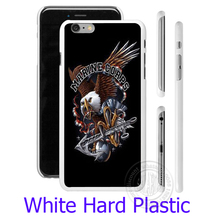 Eagle Marines Corps USMC  Hard White Phone Case for iPhone 7 6 6S Plus 4 4S 5C 5 SE 5S Cover