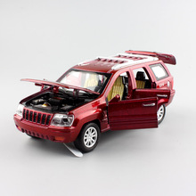 1:32 Scale miniature children styling kids Jeep Cherokee pull back sound light metal model car diecasts toys gifts for boys 2017