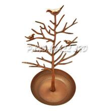 Earring Jewelry Display Rack, Jewelry Tree Stand, Iron Plated Copper, Tree, Red, Red Copper, 170x310mm