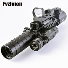 Buy Tactical 3-9X32EG Riflescope w/ Long Range Red Dot Laser/ Red/Green Dot Holographic Reflex Sight Combo Rifle /Airsoft for $30.86 in AliExpress store