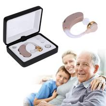 Hearing Aids Adjustable Sound Amplifier Invisible Sound Voice Amplifier Volume Tone Ear Listening Assistance With Battery(China)