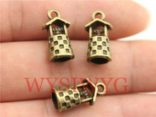 20pcs 17*9*8mm 3D Well Charms, Handmade Jewelry Accessories, DIY Jewelry Findings(China)