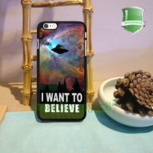 I Want To Belive X-File Movie Nebula Space Black Cell Phone Cases For Iphone 7 7plus 6 6 plus 6s 6splus 5 5s 5c 4 4s B*0130