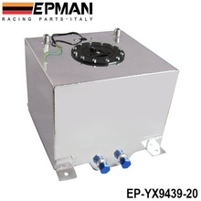 EPMAN 5 GALLON 20L BLACK COATED ALUMINUM RACING/DRIFTING FUEL CELL GAS TANK+LEVEL SENDER EP-YX9439-20