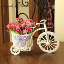 Quality rattan vase + flowers meters orchid artificial flower set home decoration for wedding