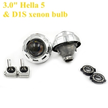 2pcs 3.0 inch hella 5 Bixenon hid Projector lens with d1s xenon bulb fast start 35w/55 with shrouds hid xenon kit headlight