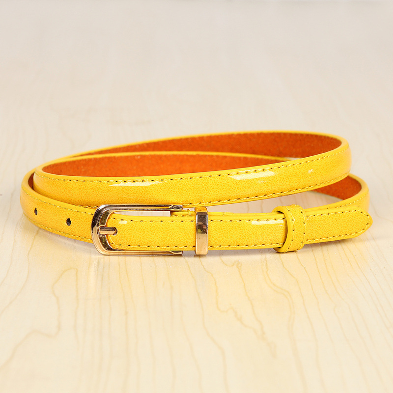 17 New Girls Black White Blue Yellow Brown PU Waist Belt Female Fashion Womens Leather Waistband Belts for Jeans Wholesale 6