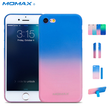 Momax Original 0.3mm Slim Case for iPhone 7 8 Plus Hard Cases for iPhone7 7Plus Clear Color Gradient Phone Cover Free Magic Band(China)
