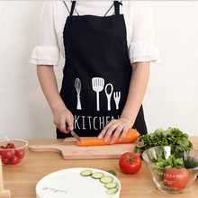 Cooking Apron Kiss Kitchen Apron Commercial Restaurant Adjustable Sleeveless Aprons Home Bib Spun Poly Letter Print Aprons(China)