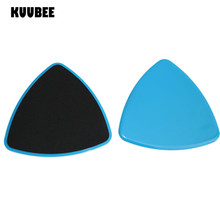 KUUBEE 2pcs/lot Triangle Shape Gliding Discs Core Sliders Dual Sided Use on Carpet  Hardwood Floors Abdominal Exercise Equipment