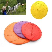 ISHOWTIENDA 1PC 15*2cm Silicone Pet Dog Flying Disc Tooth Resistant Training Fetch Toy Play Frisbee Pet Dogs Funny Training Tool