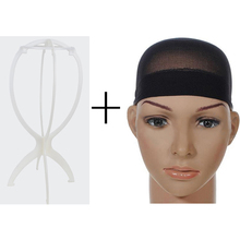1pcs Plastic Wig Stand Holder Mannequin Head Wig Stands Hair Accessories Portable Folding Support Display For Beauty Salon Use(China)