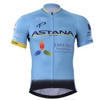 2017 ASTANA PRO TEAM BLUE ONLY SHORT SLEEVE ROPA CICLISMO CYCLING JERSEY SUMMER CYCLING WEAR SIZE XS-4XL