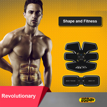 Rechargeable AB Gymnic Electronic Body Muscle Arm Waist Abdominal Exerciser Massage Machine Exercise Muscle Toning Belt Slim Fit(China)