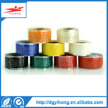 2roll x 25mmx 3m x 0.5mm Top sale multi colors silicone pipe Vulcanizing repair rescue self adhesive silicone tape