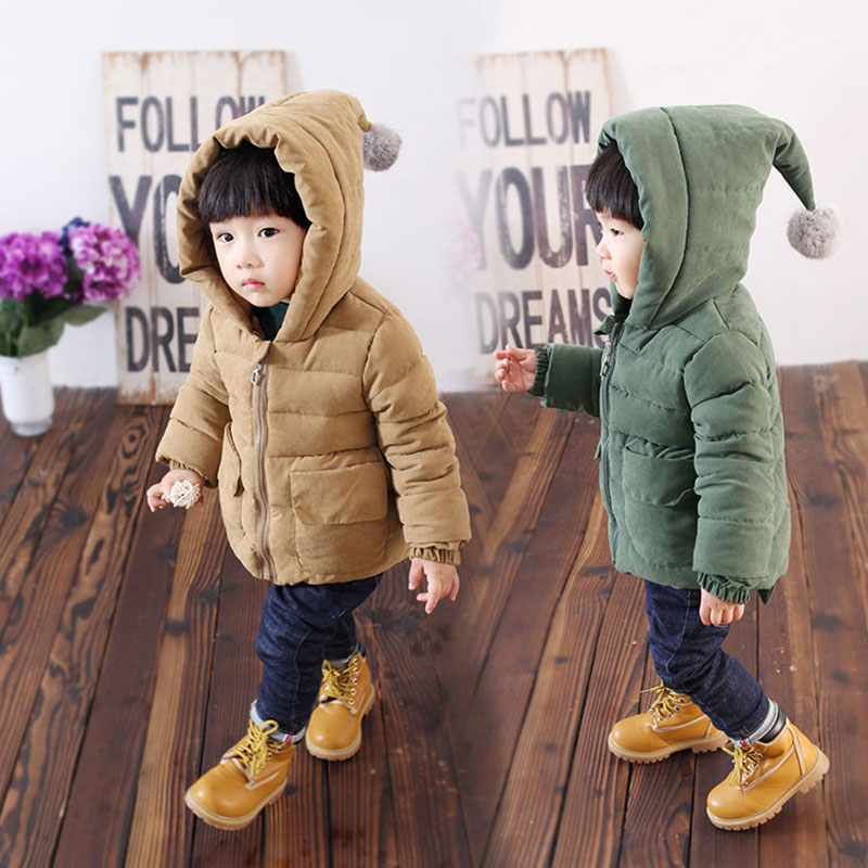 2017 Hooded Cotton Jacket for Newborn Boy Thick Warm Autumn Winter Outerwear Sport Coats Childrens Boys Clothing Clothes 0-5T<br>