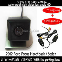 wifi 2.4HG SONY CCD HD Car Rear View Reverse Backup Color Camera sensors night vision for 2012 Ford Focus Hatchback / Sedan