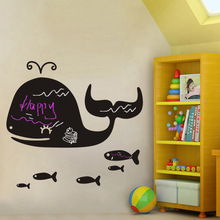 1pcs Home Decoration Accessories Whale Blackboard Chalkboard Wall Decals Sticker Baby Bedroom Sofa TV Living Room Decor Poster