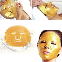 Hot! 5 Bags Golden Color Collagen Lifting Firming Anti Ageing Facial Skin Care Mask