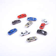 wholesale 10 pcs Car models of various brands of cars alloy car metal material Scooter Hornet mini golf laser(China)
