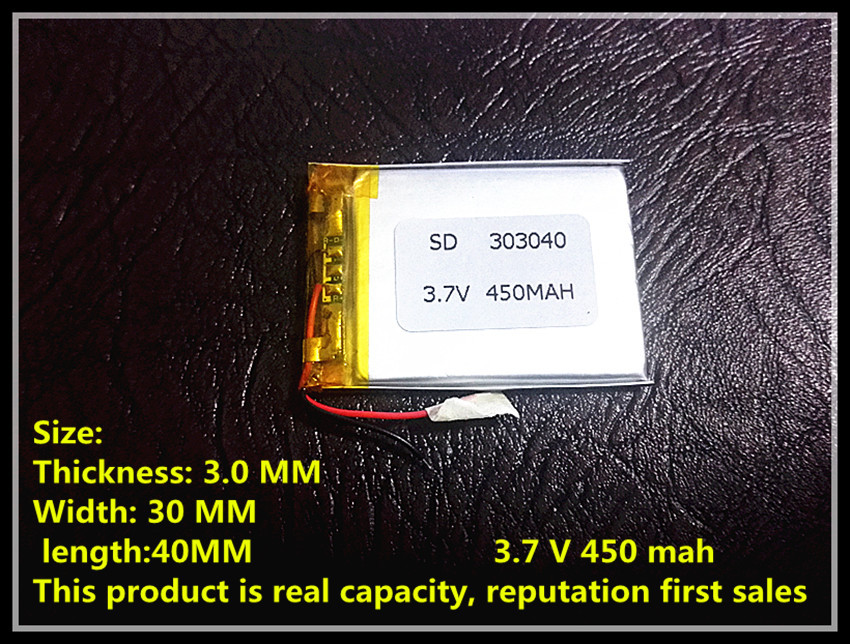 Taipower X30 ultra-thin lithium battery 303040 3.7V 450mah Lithium authentic local Bluetooth cell mp3<br><br>Aliexpress