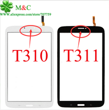 New T311 T310 Touch Panel For Samsung Galaxy Tab 3 8.0 T311 3G Version & T310 Wifi Version Touch Screen Digitizer Panel