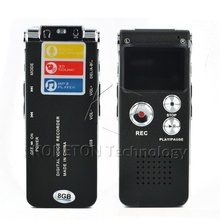 Professional 3in1 Pocket Rechargeable Mini 8GB Digital Audio Voice Recorder Dictaphone 3D Stereo MP3 Player USB Flash Pen Drive(China)