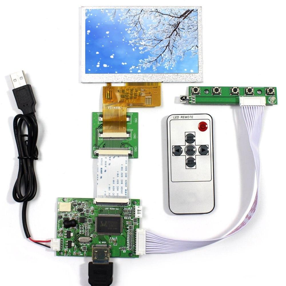 HDMI LCD Controller Board+4.3 AT043TN24 HSD043IDW1 VS043T-004A 480x272 LCD Screen<br>