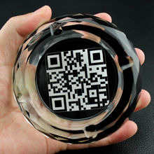 Two-dimensional QR Code Photos Pictures Advertisement Propaganda Personalized Custom Creative Smoking Gift Crystal Ashtray(China)