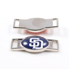 San Diego Padres MLB Baseball Team Logo Oval Shoelace Charms For Sport Shoes And Paracord Bracelets Jewelry Decoration 6pcs