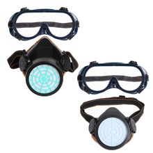 2 in 1 Single Tank 2pcs Dust Mask With Eyeglasses Mask Dust-Proof Two Layers Melt Cloth Mask PVC & TPR Optional