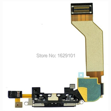 Best Working Black /White Charging Port Dock Connector Flex Cable Chager For iPhone 4GS 4S Repair Replacement Spare Parts