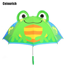 Lovely Little Frog Cartoon Patterns Umbrellas Kids Children Paraguas Parasol Lovely Boys Girls Umbrellla Umbrella-019(China)