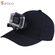 TOFOCO For Go Pro Accessories Canvas Baseball Hat Cap W/ J-Hook Buckle Mount Screw for GoPro HERO5 HERO4 Session HERO 5 4 3+ 3 2