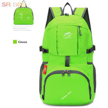 Free Shipping 35L Black Blue Green Purple Red Orange Folded Folding Large Student School Backpack