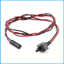 2 PCS ATX Computer Case Power Supply Reset Switch Cable Cord(China)