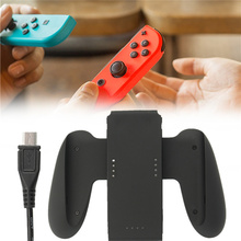 Hand Grip Charger Holder For Nintend Switch 1000MAH Joy-Con Comfort Grip Handle Charge Dcok Station Bracket With Charging Cable(China)