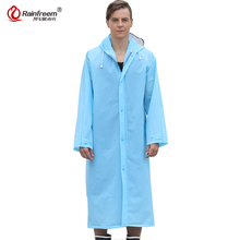 Rainfreem 2017 Easy Carry EVA Trench Raincoat Women/Men Impermeable Plastic Transparent Rain Coat 7 Colors Rain Gear Poncho