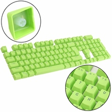 Translucent 104 Key Caps Backlit Keyboard Switches PBT Backight Mechanical Gaming Keyboard Keycap for Filco for Cherry Green